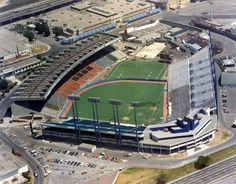 Exhibition Stadium - original home of the Blue Jays (Toronto) Baseball Park, Baseball Pitching, Baseball Field, Baseball Stuff, Baseball Training, Football Stuff, Shea Stadium, Yankee Stadium, Polo Grounds