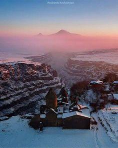 St.Mount Ararat and Saghmosavank Monastery, Aragatsotn province - Armenia