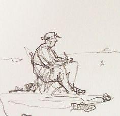 Sketches by Deborah Freriks,  on the beach, summer in France. #deborahfreriksillustraties #illustraties #schets #deborahfreriks #beach #summer