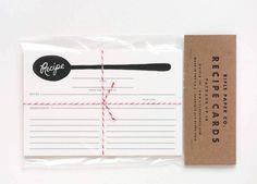 Creative holiday gifts under $15: Recipe cards you can personalize with your own family recipes.