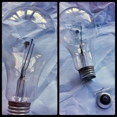 Crie um lindo enfeite reaproveitando uma lâmpada comum. Reaproveite materiais recicláveis para fazer presentes. Light Bulb, Diy, Abstract, Creative, Artwork, Prints, Home Decor, Art Ideas, Blog