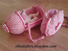 Pet şişeden oyuncak bebek puseti ve malzeme çantası  Elisi Defteri