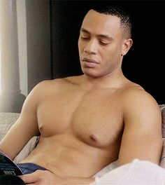 This is Trai Byers, you may know him as the fine-as-hell Andre Lyon on FOX's new drama Empire.   Trai Byers' Hotness Is A Lion And You Are Merely His Prey