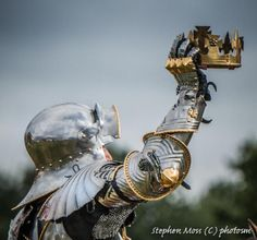 'A New King This Day!' courtesy of Stephen Moss/Photosm Medieval Armor, Medieval Fantasy, Dark Fantasy, Armor Clothing, Armadura Medieval, Female Armor, Wars Of The Roses, Steel Art, Knight Armor
