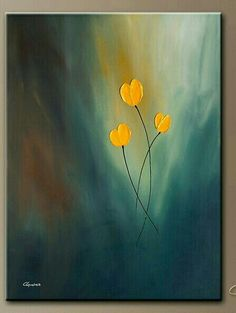 In this post I will show you the new acrylic painting ideas. You can inspire from these simple acrylic painting ideas. If you love acrylic art, come here! Easy Canvas Painting, Simple Acrylic Paintings, Diy Painting, Painting & Drawing, Canvas Art, Yellow Painting, Heart Painting, Gouache Painting, Online Painting