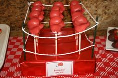 Boxing glove cake pops