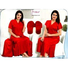 Fashionable Two Part Nighty-4872 C Night Dress Online, Bridesmaid Dresses, Wedding Dresses, Salwar Kameez, Nightwear, Saree, Formal Dresses, Sexy, Womens Fashion