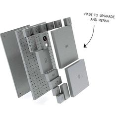 Designer Dave Hakkens shows modular smartphone concept - Mobile - News ocaholic Cell Phones For Sale, New Phones, Cell Phone Reviews, Kit, Tech Gadgets, Portable, Lego, Concept, Cool Stuff