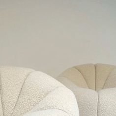 pillowy cloud chairs by Pierre Paulin Via
