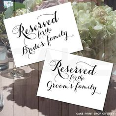 Printable Reserved S