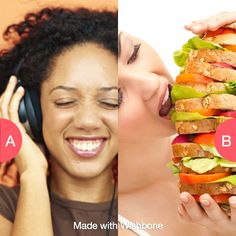 Good music or good food? Click here to vote @ http://getwishboneapp.com/share/937291