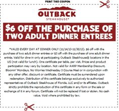 12 best outback steakhouse coupons images coupon codes outback