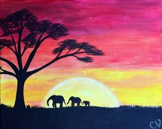 Safari Sunset *Paint Nite Nashville* Buy tickets at paintnite.com