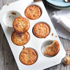 Apfel-Bananen-Muffins Dot-friendly and super tasty 💚 // 1 💙 // 0 💜, 12 pieces). Breakfast Low Carb, Fast Food Breakfast, Weight Watchers Breakfast, Yogurt Breakfast, Breakfast Cookies, Breakfast Bowls, Breakfast Crockpot, Breakfast Cereal, Breakfast Bake