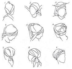 tie headscarf