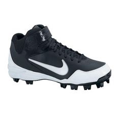 Mens Nike 2KFresh Baseball Cleats Black Leather - ONLY $54.99