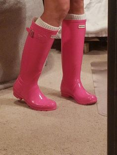 Pink Hunter boots Pink Hunter Boots, Rubber Rain Boots, Preppy, Clothes, Shoes, Fashion, Outfits, Moda, Clothing