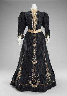 gdfalksen: Day Dress  -  1890-1895 The Metropolitan Museum of Art
