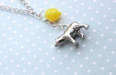 Cabin Pressure necklace with lovely polar bear by otterlydesign, $23.99    Attention, mes amis. Regardez vous le bear polar! The lemon is in play! From one of the funniest episodes of Cabin Pressure (Qikiqtarjuaq) we get timeless classics like the travelling lemon as well as a lecture on polar bears and an amazing French accent.