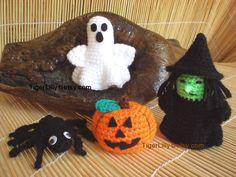 Halloween crochet pattern amigurumi pumpkin witch di TigerLilly, $3,50