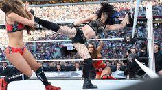 AJ Lee and Paige vs. The Bella Twins: photos | WWE.com