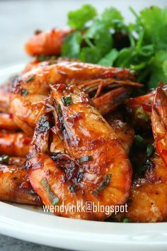 Cantonese Pan Fried Prawns