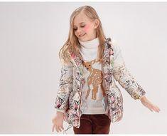 Girls Winter Hooded Jacket – CHILDREN TERRITORY Kids Winter Jackets, Hoods, Hooded Jacket, Kimono Top, Children, Girls, Cotton, Collection, Women