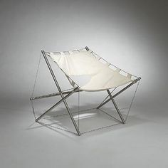Tension lounge chair by J.H. Varichon, France, 1969.