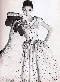 Renee Breton is wearing a polka-dot dress by Givenchy, pho… | Flickr