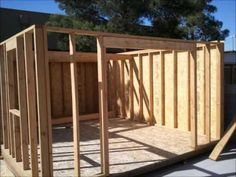 Building a shed by yourself Front Elevation Designed with a cottage look, this small shed has clapboard siding on the front, a double door, a ramp to allow a...