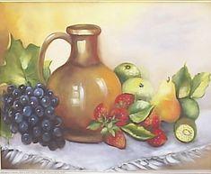 Bodegon  y las frutas Fruit Painting, Fruit Art, Still Life, Art Drawings, Decoupage, Mosaic, Candle Holders, Wall Decor, Vase