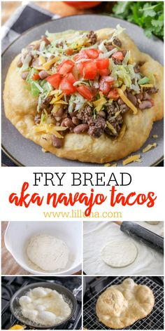 "Delicious Homemade Fry Bread - aka ""Navajo Tacos"" or ""Indian Bread"" - one of the. - Delicious Homemade Fry Bread – aka ""Navajo Tacos"" or ""Indian Bread"" – one of the best r - Indian Fry Bread Recipe Easy, Bread Recipe Video, Easy Bread Recipes, Cooking Recipes, Navajo Bread Recipe, Native American Fry Bread Recipe, Soft Food Recipes, Cooking Pasta, Quick Fry Bread Recipe"