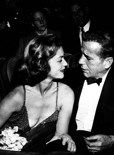 Lauren Bacall & Humphrey Bogart at the premiere of 'How To Marry a Millionaire', 1953.