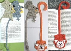 Cat and Mouse Bookmark Amigurumi pattern on Craftsy.com