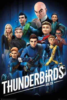 "GB eye ""Thunderbirds are Go, Collage"" Maxi Poster, Multi-Colour, 61 x cm Joe 90, Timeless Series, Thunderbirds Are Go, Cute Pastel Wallpaper, Spaceship Art, Cool Posters, Art Posters, Kids Poster, Lost In Space"