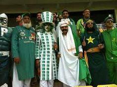 Crazy fans of Pakistani cricket team