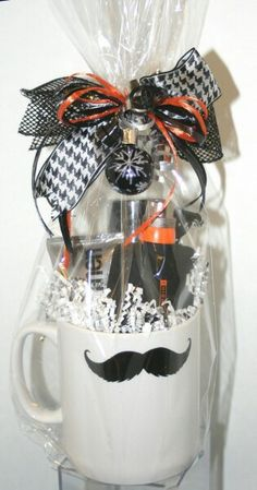 Moustache Man!  Add your choice of Mary Kay men's line to this cute mug & wrap with masculine ribbons.  This would be great for Fathers Day, birthday, anniversary or holiday gifts.
