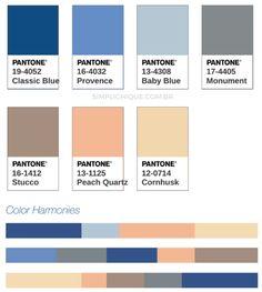 Classic Blue: Como usar a cor do ano 2020 da Pantone Pantone Azul, Paleta Pantone, Pantone Colour Palettes, Pantone 2020, Pantone Color, Interior Design Trends, Wedding Color Combinations, Blue Colour Palette, Design Blog