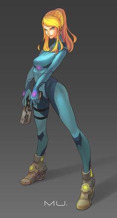 Samus:zero suit by boringmu