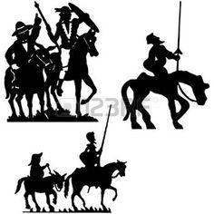 don quichotte: Don Quijote silhouettes. Don Quichotte.