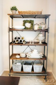bookshelf styling...Emerson Shelf from World Market  {Jones Design Co}