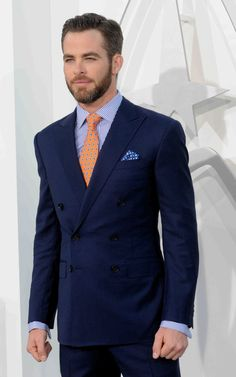 Pair this beautiful blue suit with Modern Optical's mens eyeglass frame GVX-540 in navy blue