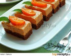 Meruňkové řezy II. Czech Recipes, Ethnic Recipes, Dessert Recipes, Desserts, Meatloaf, Cornbread, Baked Goods, Salsa, Cheesecake