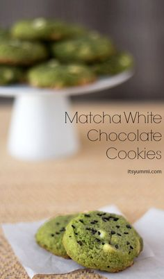 "Having a ""T"" party today ... T is for TEA! Matcha Tea & White Chocolate Cookies ~ ItsYummi.com"