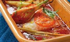 Kabeljauw in de oven met tomaat en venkel, sinaasappel en dragon