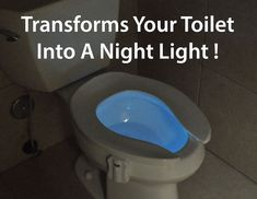 The GlowBowl transforms your toilet into a Night Light. A High Tech Gadget for your Low Tech Toilet.