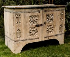 18th C Aumbry reclaimed as commode