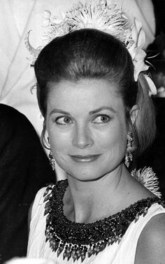 Princess Grace of Monaco at the Red Cross Gala in Monaco, 1970.