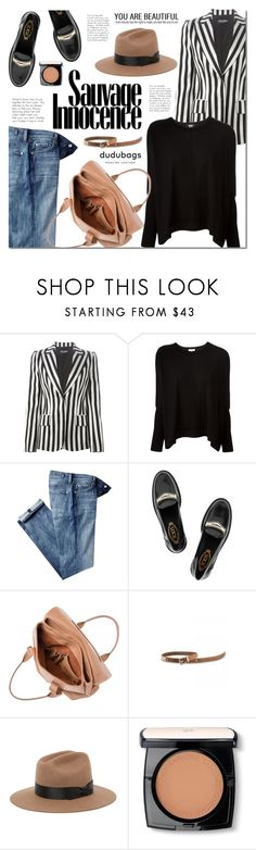 """""""Dudubags.com"""" by mada-malureanu ❤ liked on Polyvore featuring Dolce&Gabbana, Kenzo, 7 For All Mankind, Tod's, Brixton, Lancôme and dudubags"""