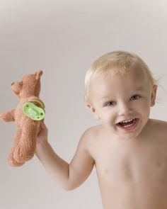 BinkiBear LLC Booth 1013 The teddy bear holds the pacifier? Genius. - Home